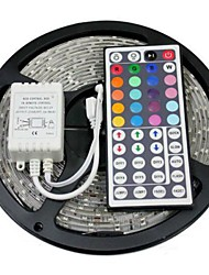 Z®ZDM 5M 300X5050 SMD RGB LED Strip Light with 44Key Remote Controller (DC12V)