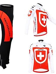 Trajes/Personalizada ( Blanco/Rojo , Rojo/Negro ) -Transpirable/Cremallera impermeable/Listo para vestir/Mantiene abrigado/Bandas