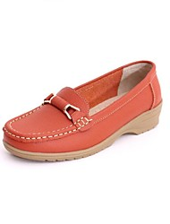 Women's Shoes Round Toe Low Heel Calf Hair Loafers Shoes More Colors available