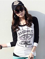 yibeier® t-shirt gola redonda informal das mulheres