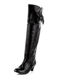 sapatos femininos da moda qq botas de couro salto baixo mais cores disponíveis