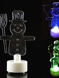 mini-lampe de bureau colorée de style bougie de bonhomme de neige conduit à balai pour la décoration de vacances