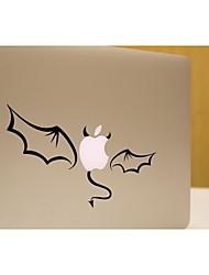 SkinAT cuteblack drôle petite tablette de démon bricolage amovible et autocollant d'ordinateur portable pour vous et MacBook Air comprimé 135 * 205mm