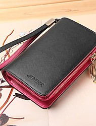 Women's  Genuine Leather Short Wallets Wristlets Coin Case Purse For iphone 4/5 /6