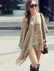 Women's Round Collar Loose Cape knitwear Sweater