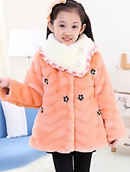 Girl's Fur Jacket & Coat , Winter Long Sleeve