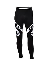 KOOPLUS Unisex Winter Cycling Clothing Thermal Fleece Cycling Pants--Black+White