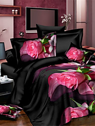 Black Polyester King Duvet Cover Sets