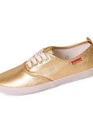 Scarpe Donna - Sneakers alla moda - Casual - Comoda - Piatto - Sintetico - Argento / Dorato