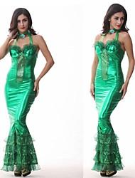 Halloween costume de femme de chambre de charme Sirena luxe vertes femmes