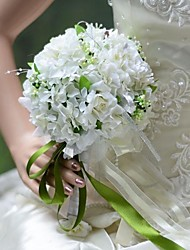 Elegant Round Shape Hydrangea Roses Bridal Wedding Bouquet(More Colors)
