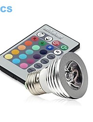Spots ( RGB , Radio Télécommandé/Décoratif ) - Par - 3 W- E26/E27