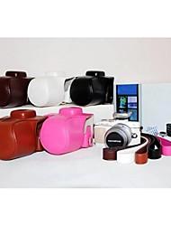 pajiatu pu litchi en cuir caméra de grain étui de protection Housse avec lanière pour stylo à Olympus E-pl7 epl7 17mm / objectif 14-42mm