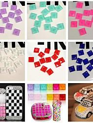 100PCS Flatback Glass Gems 10mm Handmade DIY Craft Material/Mosaic Accessories(Assorted Color)