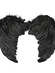 femmes plumes des ailes noires de costumes d'Halloween