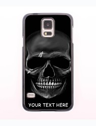 Personalized Phone Case - Black Skull Design Metal Case for Samsung Galaxy S5 mini