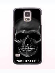 caso de telefone personalizado - crânio caixa de metal design preto para samsung galaxy s5 mini-