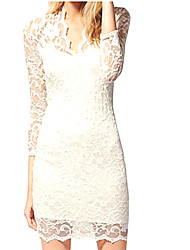 Women's Elegant Lace Fitted Dress