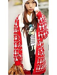 Корейский стиль рука об руку рисунок с капюшоном пальто красного
