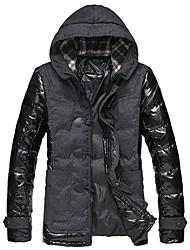 HD Men's Hooded Splicing Down Jacket