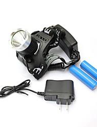 conduit XM-L T6 1800 lm lampe torche phare lampe de poche avec chargeur sports de plein air
