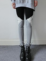 Women's Lace  Stitching Leggings(More Colors)