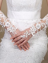 Wrist Length Glove Bridal Gloves Spring / Summer / Fall / Winter