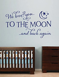 Wall Stickers Wall Decals, Modern Love Quote PVC Wall Stickers.