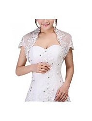 Women Bride White Lace Wedding Bridal Wrap Cape Shawl Scarf Jacket Party