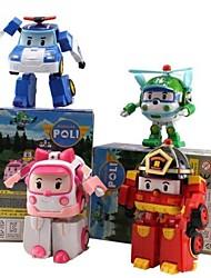 Robocar Poli  Joint Motion Action Figures Transforming Robot Toys (4pcs)