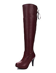 QiQi Women's Stiletto Heel High Boots With Zipper Shoes(More Color)