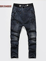 Men's Jeans , Casual Print Denim