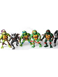 version q Ninja Turtles figurines de mouvement mixte institué jouets (x6)