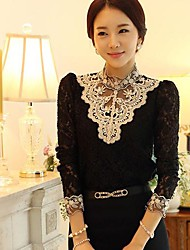 Women's  Round Collar Lace Blouse