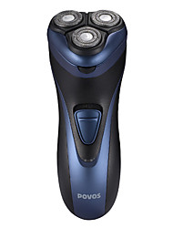 1pc povos® rasoio elettrico con tre galleggianti dimensionale seguente faccia systerm barba e design completamente lavabile