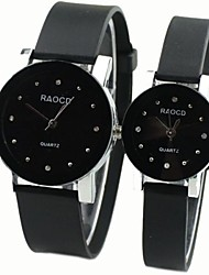 Couple's Round Dial Rubber Band Quartz Fashion Watch (Assorted Colors) Cool Watches Unique Watches