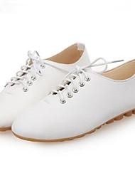zapatos de las mujeres del dedo del pie redondo oxfords talón plano de los zapatos más colores disponibles