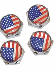 DIY американские болт флаг шаблон лицензии универсальный металлическая пластина колпачки для автомобиля