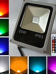 20W LED Floodlight 1 High Power LED 1600 lm RGB Remote-Controlled AC 85-265 V