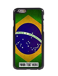 Personalized Phone Case - Brazilian Flag Design Metal Case for iPhone 6