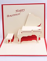 Piano Dimensional Birthday  Card