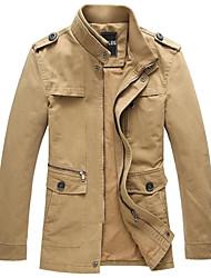 CHUN ZHENG Men's Fashion Stand Collar Jacket_2190A
