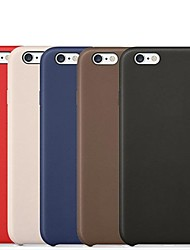 Para Funda iPhone 6 / Funda iPhone 6 Plus Other Funda Cubierta Trasera Funda Un Color Dura Cuero SintéticoiPhone 6s Plus/6 Plus / iPhone