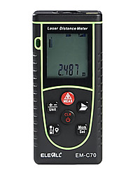 70m High-precision Digital Range Finder Hand-held Electronic Infrared Laser Distance Measuring Instrument ELECALL EM-C70