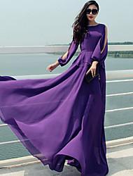 vestido apto gasa de la moda de miel de las mujeres