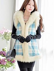 Women's Coats & Jackets , Polyester/Spandex/Wool Casual Dabuwawa