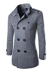 Men's Lapel Fashion Casual Wool Tweed Coat