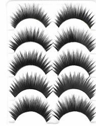 New 5 Pairs Natural Black Curled Long Thick False Eyelashes Soft Eyelash Eye Lashes for Eye Extensions