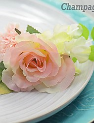 Rose Hydrangea  Silk  Wedding Boutonniere  (More Colors)