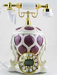 Novelty Design Europe Style Polyresin Material Home Decor Telephone with ID Display